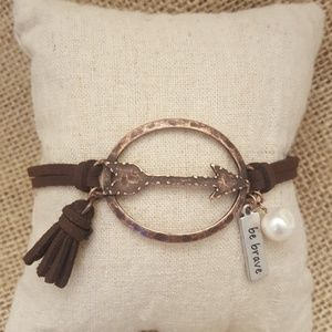 Jewelry - Be Brave Cord Bracelet